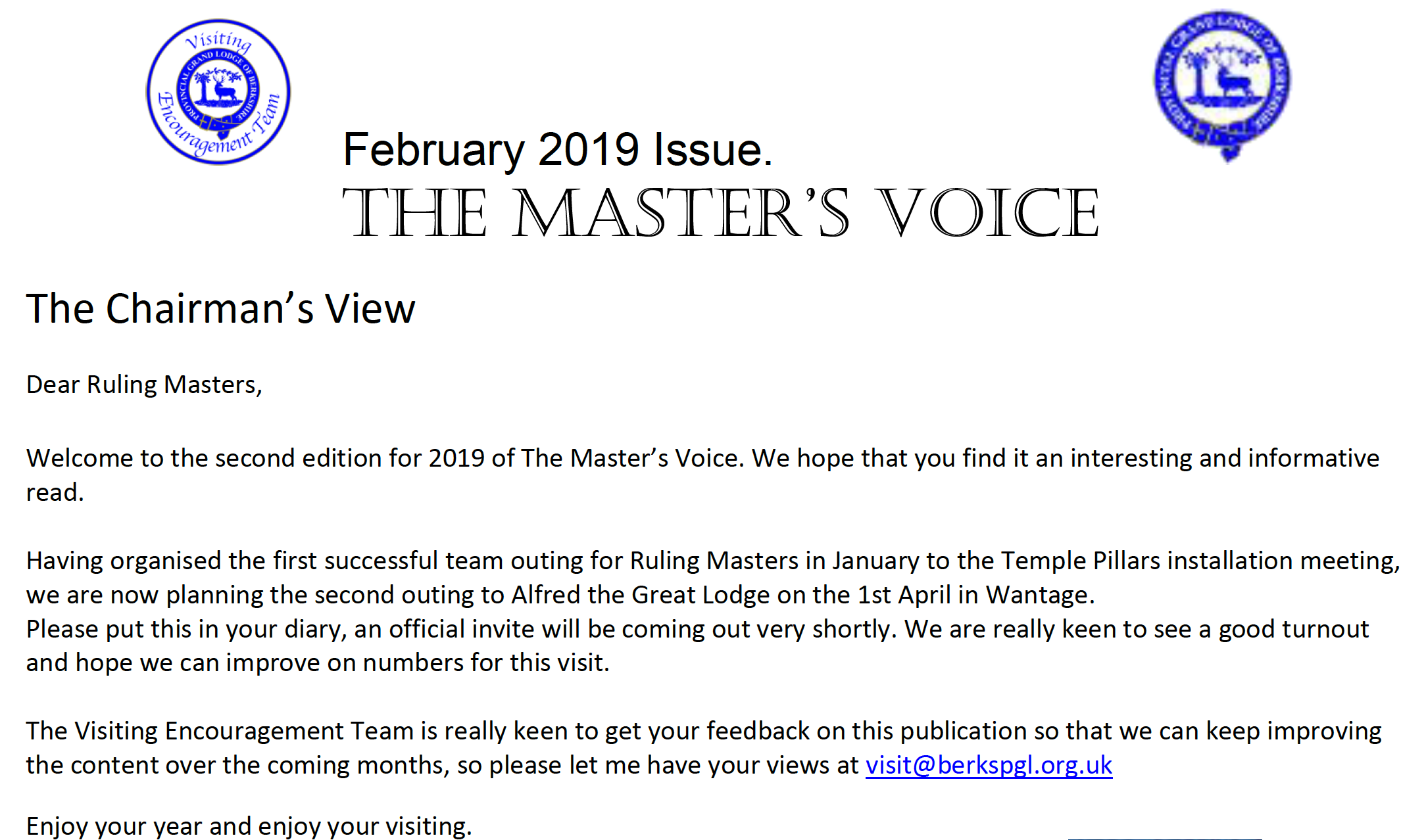 The Masters Voice February