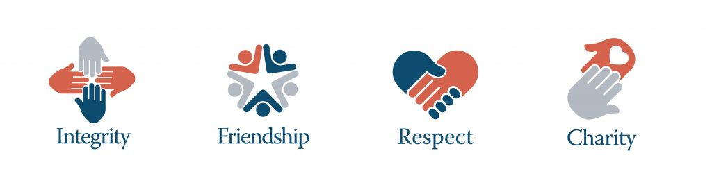 Our core values: Integrity | Friendship | Respect | Charity